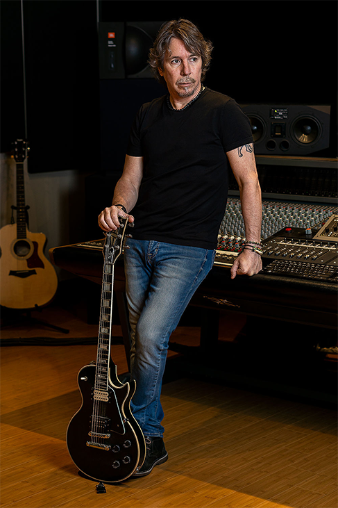 Producer Luke Beaulac and his 79 Black Beauty Les Paul Custom